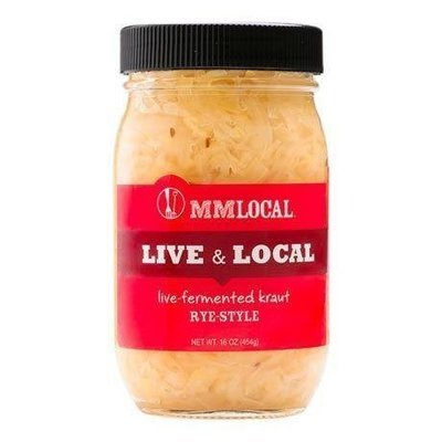 Preserved Kraut, MM Colorado® Live Kraut with Caraway (16 oz Jar)