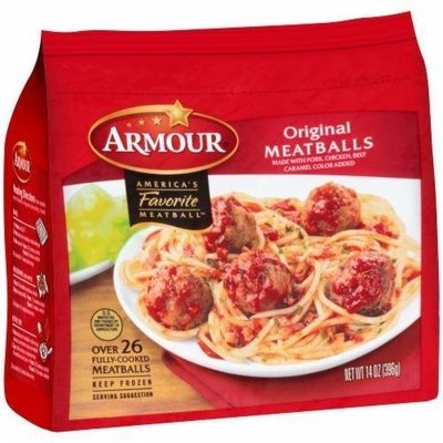 Frozen Meatballs, Armour® Original Meatballs (14 oz Bag)