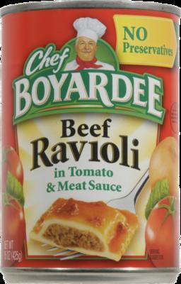 Ravioli, Chef Boyardee® Beef Ravioli (15 oz Can)