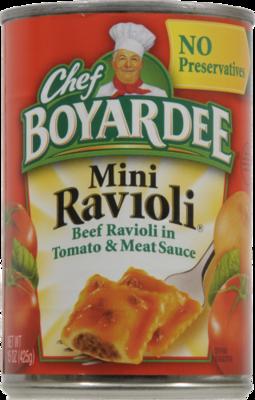 Ravioli, Chef Boyardee® Mini Beef Ravioli (15 oz Can)