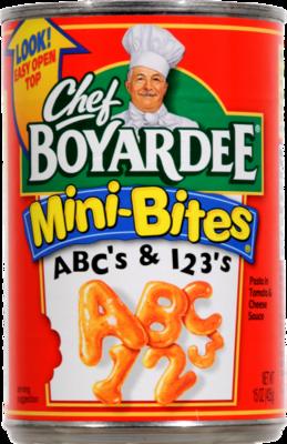 Ravioli, Chef Boyardee® Mini-Bites ABC's & 123's (15 oz Can)