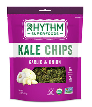Kale Chips, Rhythm Superfoods® Garlic & Onion Kale Chips (2 ox Bag)
