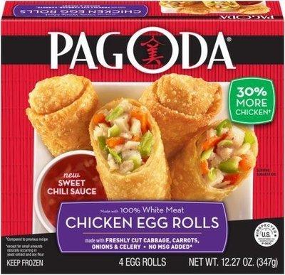 Frozen Egg Rolls, Pagoda Express® Chicken Egg Rolls (12.27 oz Box)