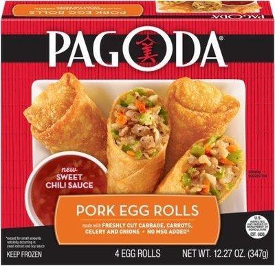 Frozen Egg Rolls, Pagoda Express® Pork Egg Rolls (12.27 oz Box)