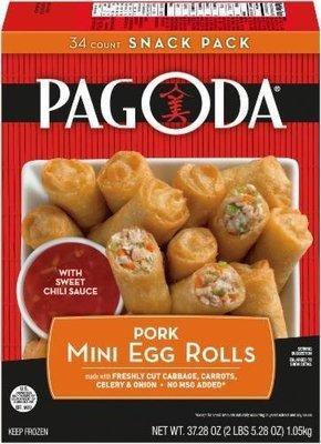 Frozen Egg Rolls, Pagoda Express® Pork Mini Egg Rolls (37.28 oz Box)