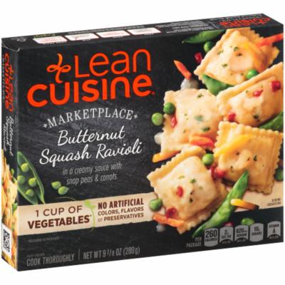 Frozen Dinner, Lean Cuisine® Marketplace™ Butternut Squash Ravioli (9.875 oz Box)