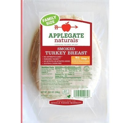 Deli Meat, Applegate Farms® Smoked Turkey Breast (10.5 oz Resealable Bag)