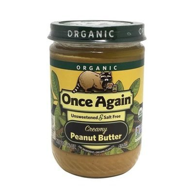 Organic Peanut Butter, Once Again® Organic Creamy No Salt Peanut Butter (16 oz Jar)