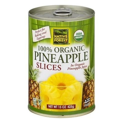 Canned Fruit, Native Forest® Organic Pineapple Slices (15.0 oz Can)