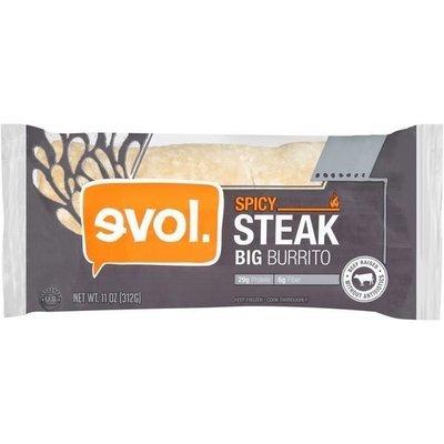 Frozen Burrito, Evol® Big Spicy Steak Burrito (11 oz Bag)