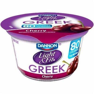 Yogurt, Dannon® Light & Fit® Greek Nonfat Cherry Yogurt (5.3 oz Cup)