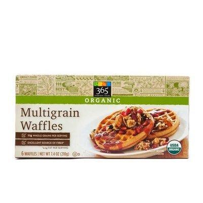 Frozen Waffles, 365® Organic Multigrain Waffles (6 Count 7.4 oz Box)