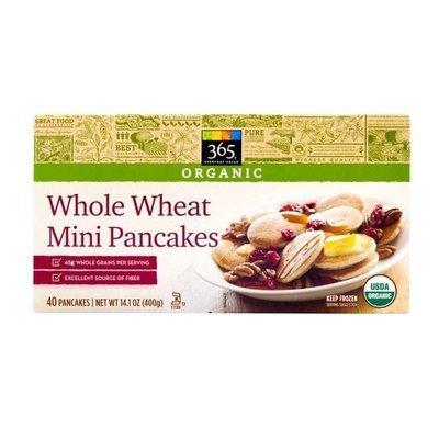 Frozen Waffles, 365® Organic Whole Wheat Mini Pancakes (40 Count 14.1 oz Box)