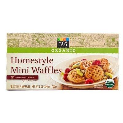 Frozen Waffles, 365® Organic Homestyle Mini Waffles (32 Count 9 oz Box)