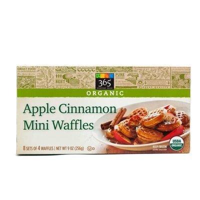Frozen Waffles, 365® Organic Apple Cinnamon Mini  Waffles (32 Count 9 oz Box)