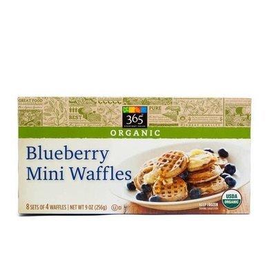 Frozen Waffles, 365® Organic Blueberry Mini  Waffles (32 Count 9 oz Box)