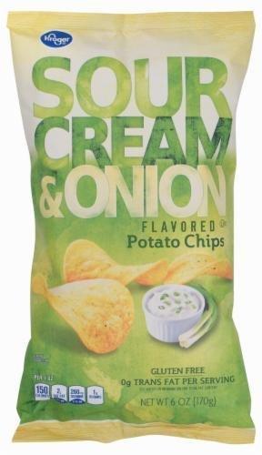 "Potato Chips, Kroger® ""Small Size"" Sour Cream & Onion Potato Chips (6 oz Bag)"