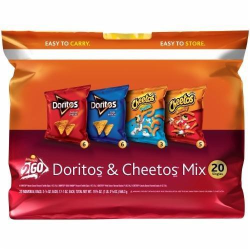 """Lunch Size Chips, Doritos® """"2Go Doritos & Cheetos Mix"""" (20 Count, 13.5 oz Bag)"""