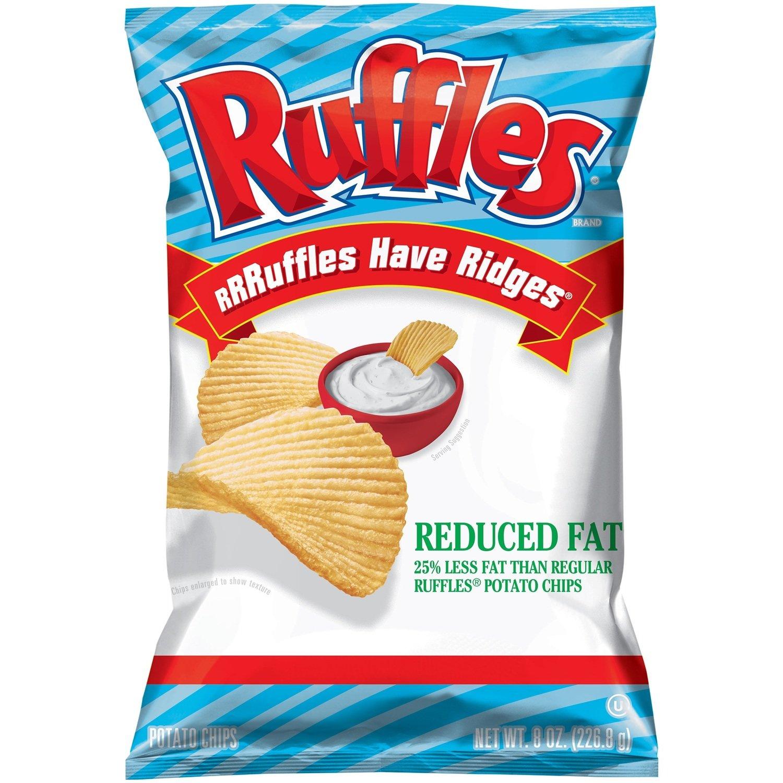 "Potato Chips, Ruffles® ""Regular Size"" Reduced Fat Potato Chips (8.5 oz Bag)"