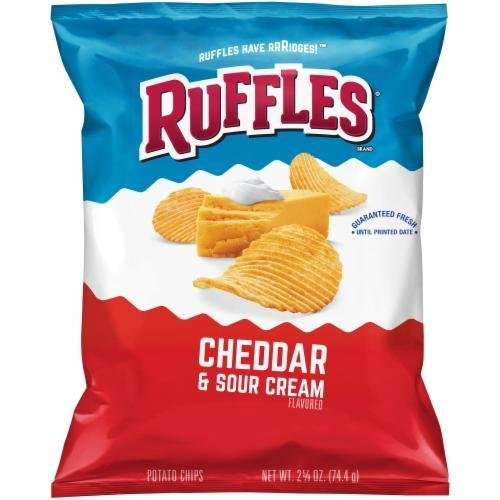 "Potato Chips, Ruffles® ""Lunch Size"" Cheddar & Sour Cream​ Potato Chips (2.63 oz Bag)​"