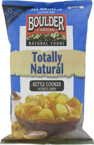 "Potato Chips, Boulder Canyon™ ""Regular Size"" Totally Natural Potato Chips (6.5 oz Bag)"