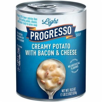 Canned Soup, Progresso® Light® Creamy Potato with Bacon & Cheese Soup (18.5 oz Can)
