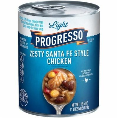 Canned Soup, Progresso® Light® Zesty Santa Fe Style Chicken Soup (18.5 oz Can)