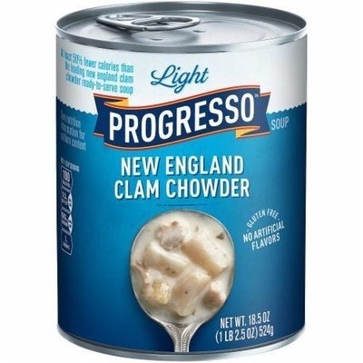Canned Soup, Progresso® Light® New England Clam Chowder Soup (18.5 oz Can)
