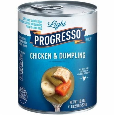 Canned Soup, Progresso® Light® Chicken & Dumpling Soup (18.5 oz Can)
