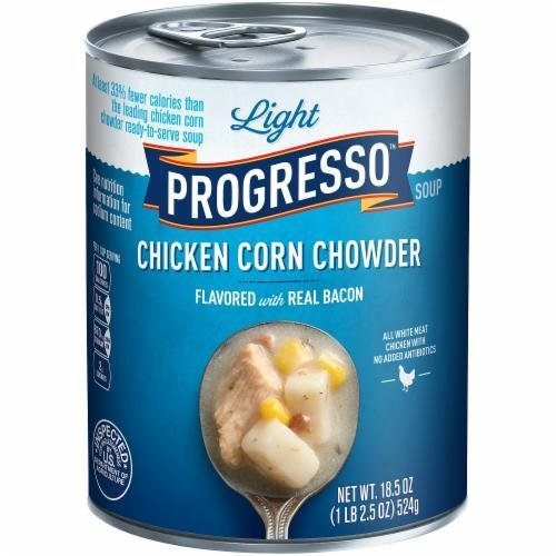 Canned Soup, Progresso® Light® Chicken Corn Chowder Soup (18.5 oz Can)
