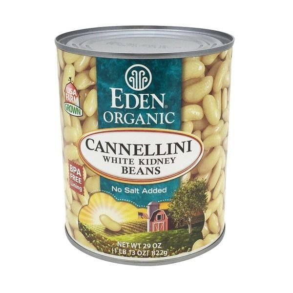 "Canned Beans, Eden Organic® Organic ""No Salt Added"" White Cannellini Kidney Beans (29 oz Can)"