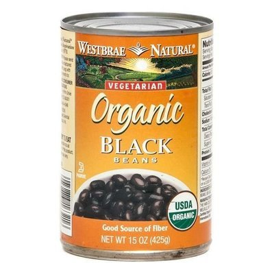 Canned Beans, Westbrae Natural® Organic Vegetarian Black Beans (15 oz Can)