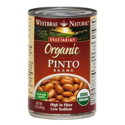 Canned Pinto Beans, Westbrae Natural® Organic Vegetarian Pinto Beans (15 oz Can)