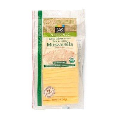 Cheese, 365® Organic Sliced Mozzarella Cheese (12 oz Bag)
