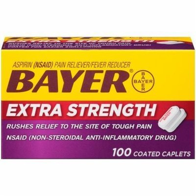 Pain Killer, Bayer® Extra Strength Aspirin (100 Count Box)