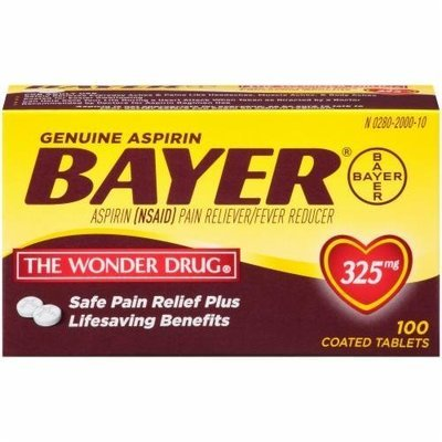 Pain Killer, Bayer® Genuine Aspirin (100 Count Box)