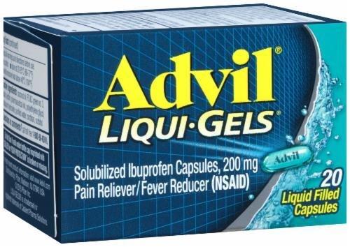 """Pain Killer, Advil® """"Ibuprofen"""" Liqui-Gels (20 Count Box)"""