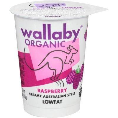Yogurt, Wallaby Organic® Organic Lowfat Raspberry Yogurt (6 oz Cup)