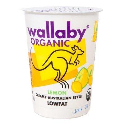 Yogurt, Wallaby Organic® Organic Lowfat Lemon Yogurt (6 oz Cup)