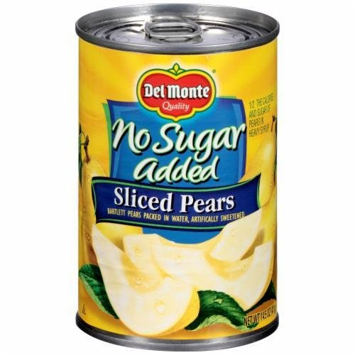 "Canned Fruit, Del Monte® ""No Sugar Added"" Sliced Bartlett Pears (14.5 oz Can)"