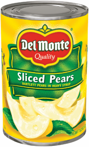 Canned Fruit, Del Monte® Sliced Bartlett Pears in Heavy Syrup (15.25 oz Can)