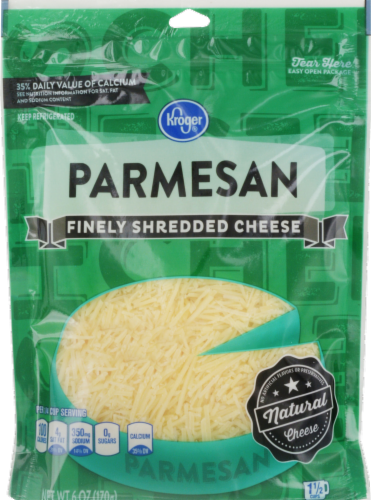 Shredded Cheese, Kroger® Finely Shredded Parmesan Cheese (6 oz Resealable Bag)