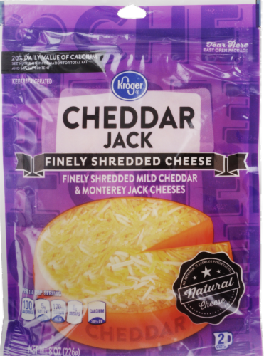 Shredded Cheese, Kroger® Finely Shredded Cheddar Jack Cheese (8 oz Resealable Bag)