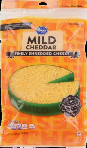 Shredded Cheese, Kroger® Finely Shredded Mild Cheddar Cheese (16 oz Resealable Bag)