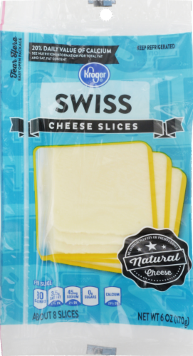 Cheese, Kroger® Sliced Swiss Cheese (6 oz Resealable Bag)