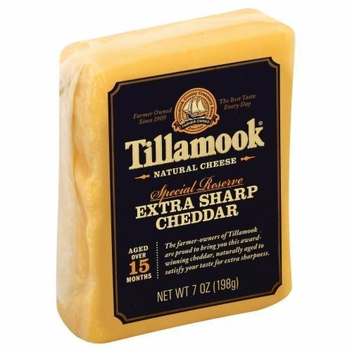 Cheese Block, Tillamook® Block of Special Reserve Extra Sharp Cheddar Cheese (7 oz Bag)
