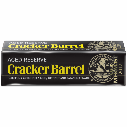 Cheese Block, Cracker Barrel® Block of Aged Reserve Cheddar Cheese (8 oz Bag)