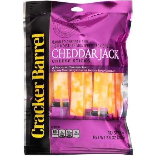 String Cheese, Cracker Barrel® Cheddar Jack Cheese Sticks (10 Count, 7.5 oz Bag)