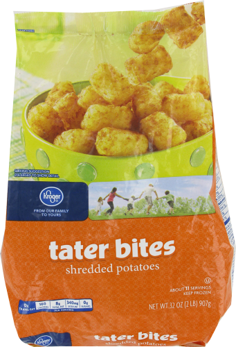 "Frozen Potatoes, Kroger® ""Tater Bites"" Shredded Potatoes (32 oz Bag)"