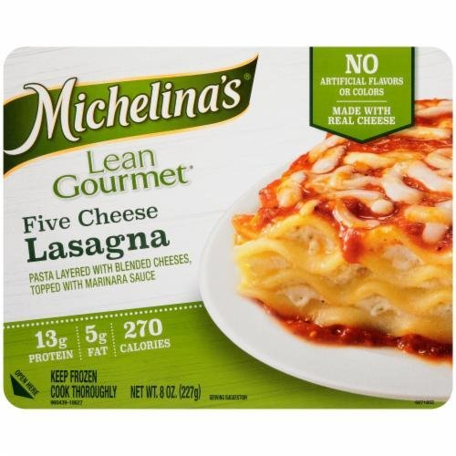 Frozen Lasagna, Michelina's® Lean Gourmet Five Cheese Lasagna (8 oz Box)